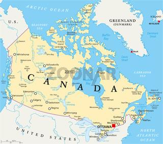 Kanada Landkarte