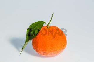 Orange auf weißem Hintergrund