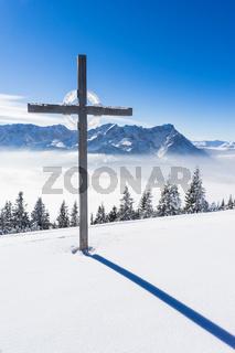 Gipfelkreuz am Wank