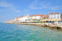 Promenade of Piran at Adriatic Sea,Slovenia