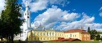 Clock Tower and Church Novgorod