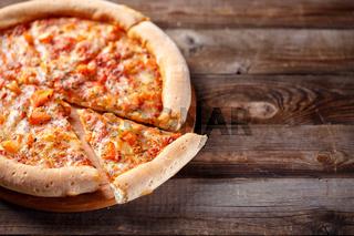 Delicious italian pizza.