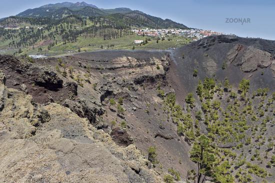 Volcano Crater  Fuencaliente La Palma Spain