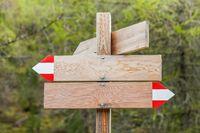 Wooden signpost (empty)