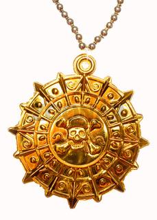 Gold pirate medallion