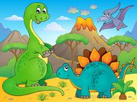 Image with dinosaur thematics 6 - picture illustration.