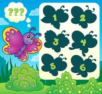 Butterfly riddle theme image 2 - picture illustration.