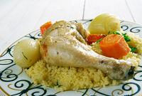 Maftul  chicken couscous