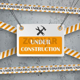 Under Construction Concrete