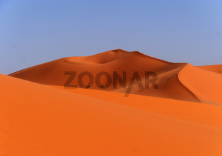 Sanddüne der Wüste Erg Chebbi in Marokko