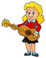 Girl guitar player theme image 1 - picture illustration.