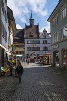 Pedestrian zone in the historic old town of Staufen