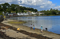 Plockton at Loch Carron, Scottish Highlands, Scotland, Great Britain