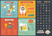 Technology flat design Infographic Template