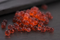 strawberry caviar, molecular gastronomy