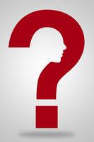 Kopf in Fragezeichen als Konzept