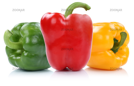 peppers red yellow green multicolored peppers vegetable exemption isolated