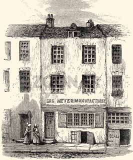 The Cock Lane ghost, 1762, Cock Lane, a small street in Smithfield in the City of London, 18th century