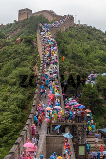 Tourists on Great Wall in Beijing China