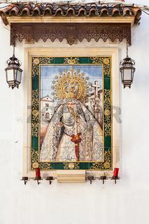 Catholic Altar in public street