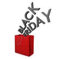 Red Shopping Bag Black Friday