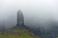 Rock pinnacle The Old Man of Storr, Isle of Skye, Scotland, Great Britain
