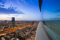 View of Tel Aviv at sunset