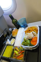 Lunch in a plane