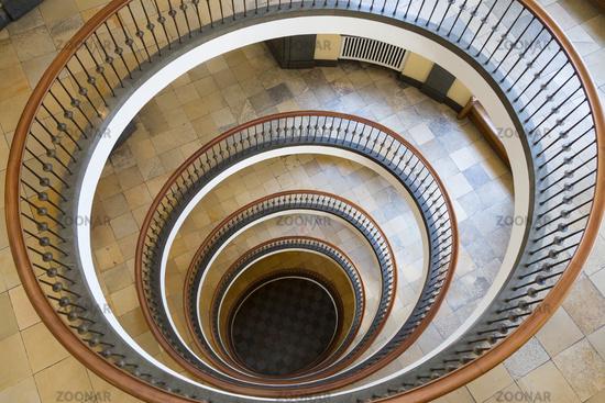Atrium of Axelborg Tower in Copenhagen, Denmark