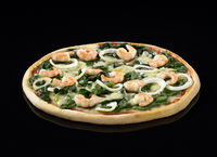 Spinach Shrimp Pizza