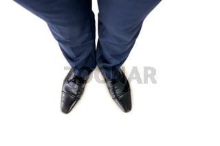 Close up view of businessman shoes