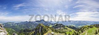 Panoramic view Alps in Bavaria