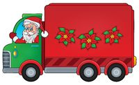 Christmas theme delivery car image 1 - picture illustration.
