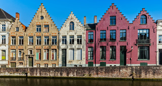 Bruges medieval houses and canal, Belgium