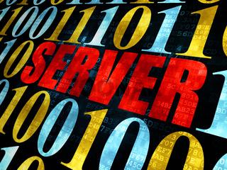 Web development concept: Server on Digital background