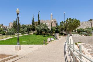 Urban park in Jerusalem, Israel.