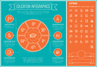 Education Line Design Infographic Template
