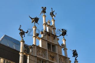 dachfiguren in gent, belgien
