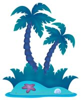 Tropical island theme image 4 - picture illustration.