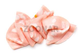 Slices of Sausage Mortadella