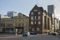 Davidwache and St. Pauli Theatre in Hamburg (Germany)