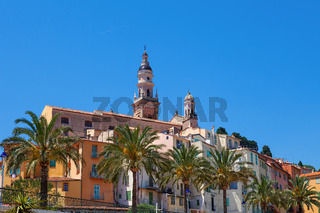 Old town of Menton, France.