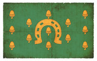 Grunge flag of Rutland Council (Great Britain)