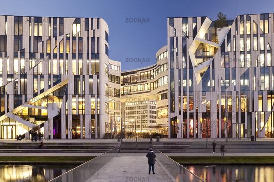 Office and commercial building Koe-Bogen, Duesseldorf, North Rhine-Westphalia, Germany, Europe