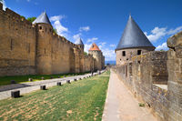 The medieval town of Carcassonne, France