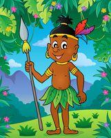 Aborigine theme image 2 - picture illustration.