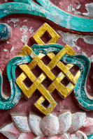 Golden endless knot