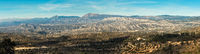 Panorama of mountain range in Alicante. Costa Blanca, Valencia. Spain
