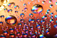 clean multicolored waterdrops macro background