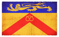 Grunge flag of Staffordshire (Great Britain)